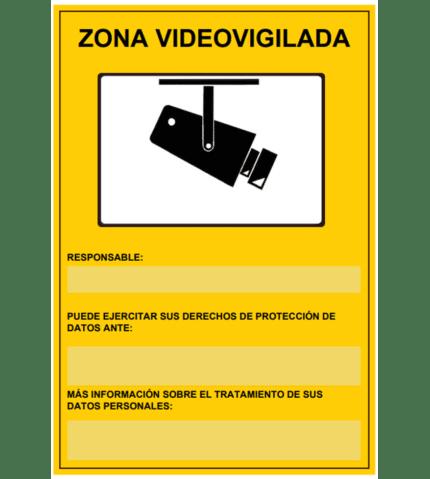 Señal / Cartel de Zona videovigilada