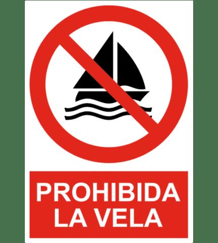Señal / Cartel de Prohibida la vela