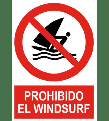 Señal / Cartel de Prohibido el windsurf