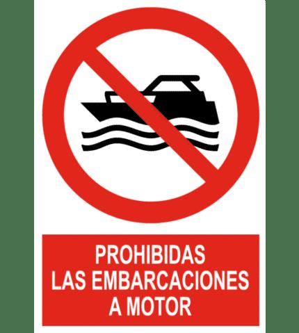 Señal / Cartel de Prohibidas las embarcaciones a motor