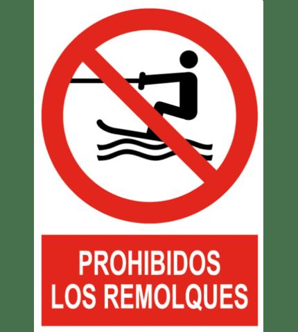 Señal / Cartel de Prohibidos los remolques