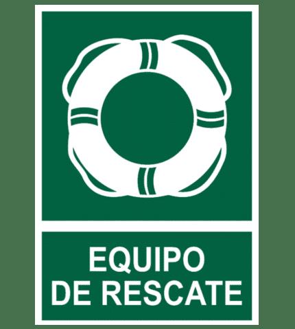 Señal / Cartel de Equipo de rescate