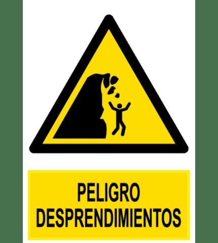 Señal / Cartel de Peligro desprendimientos