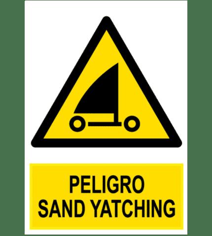 Señal / Cartel de Peligro sand yatching