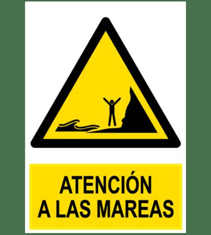 Señal / Cartel de Atención a las mareas