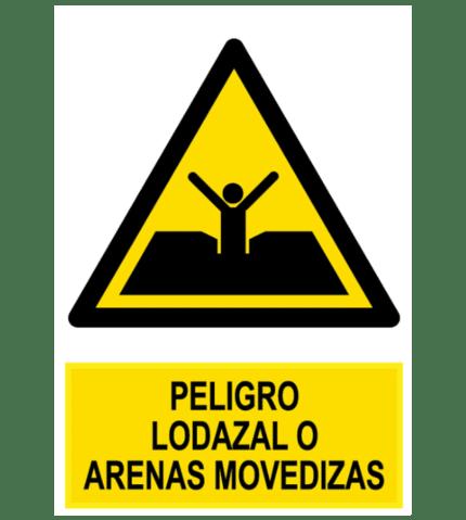 Señal / Cartel de Peligro lodazal o arenas movedizas