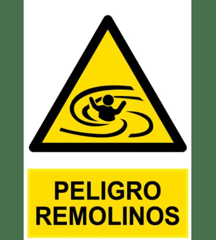 Señal / Cartel de Peligro remolinos