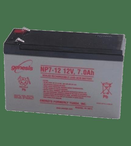 Batería recargable 12V 7 Ah.