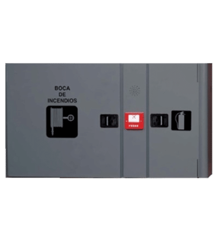 BIE + Armario de extintor + Pulsador. AHYNOA3H