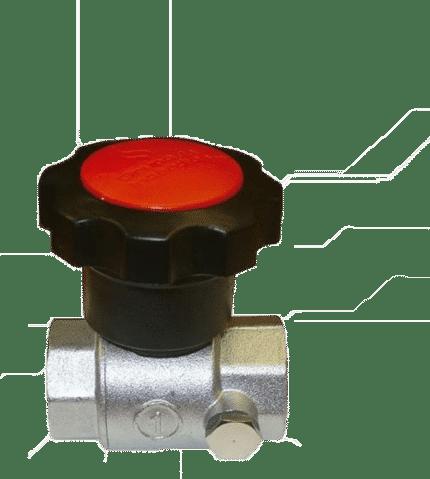 Válvula 25 de esfera con desmultiplicador
