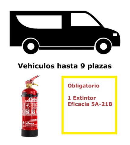 Pack extintor para vehículos de 9 plazas