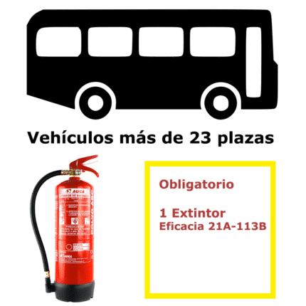 Pack extintor para vehículos de más de 23 plazas