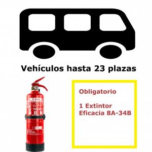 Pack extintor para vehículos de 23 plazas
