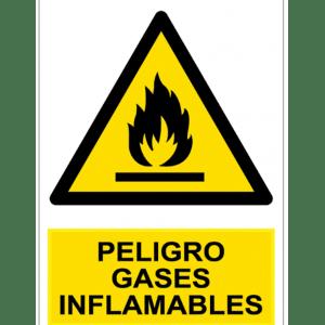 Señal / Cartel de Peligro. Gases inflamables