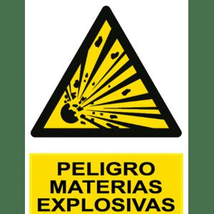 Señal / Cartel de Peligro. Materias explosivas