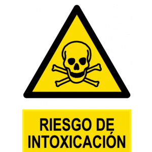 Señal / Cartel de Riesgo de intoxicación