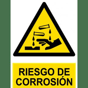 Señal / Cartel de Riesgo de corrosión
