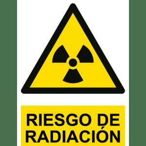 Señal / Cartel de Riesgo de radiación