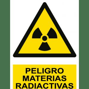 Señal / Cartel de Peligro. Materias radiactivas