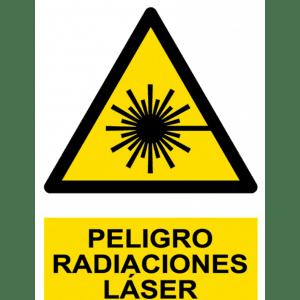 Señal / Cartel de Peligro. Radiaciones láser