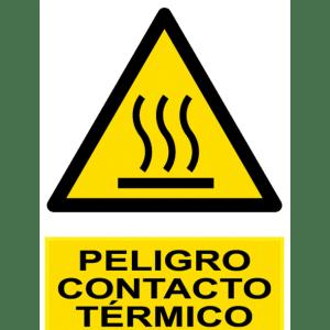 Señal / Cartel de Peligro. Contacto térmico