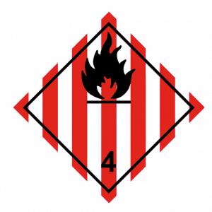 Señal de Peligro fuego. Materias sólidas inflamables