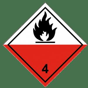 Señal de Materias expontáneamente inflamables