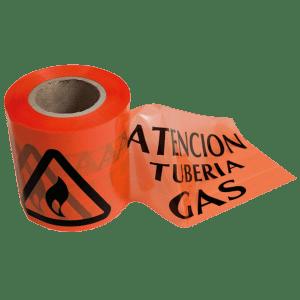 Cinta de balizamiento tubería gas