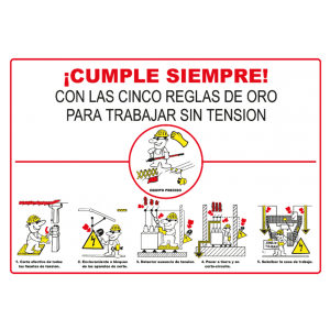 Cartel informativo de Reglas para trabajar sin tensión