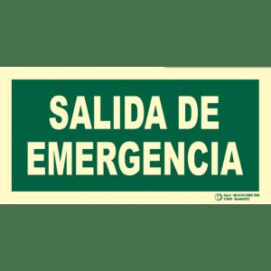 Señal / Cartel de Salida de emergencia. Clase B