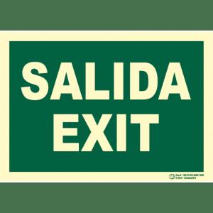 Señal / Cartel de Salida - Exit. Clase B