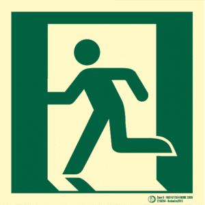 Señal / Cartel de Evacuación en planta. Clase B