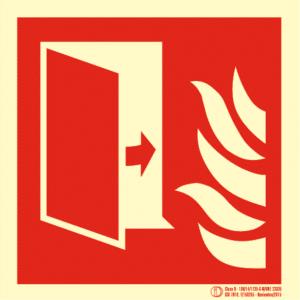 Señal / Cartel de Puerta cortafuegos. Clase B