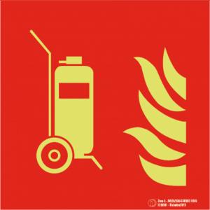 Señal /Cartel de Columna móvil extintor. Clase A