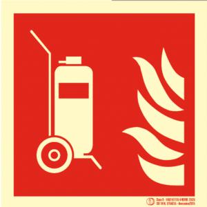 Señal / Cartel de Columna movil extintor. Clase B