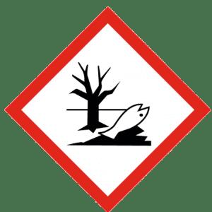 Señal de Dañino al medio ambiente acuático