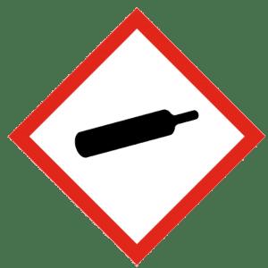 Señal de Gas bajo presión