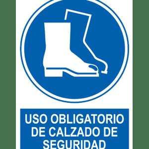 Señal / Cartel de Uso obligatorio de calzado seguridad