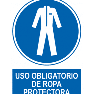Señal / Cartel de Uso obligatorio de ropa protectora