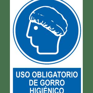 Señal / Cartel de Uso obligatorio de gorro higiénico