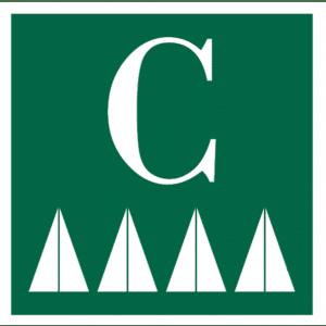 Señal / Cartel de Camping. Asturias