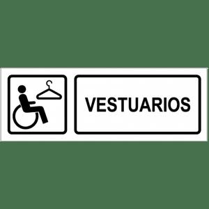 Señal / Cartel de Vestuarios minusválido