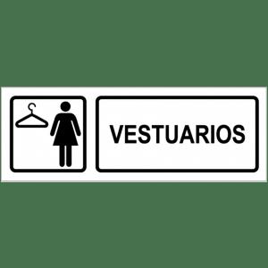 Señal / Cartel de Vestuarios femenino