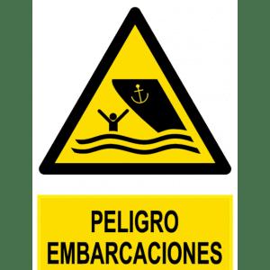 Señal / Cartel de Peligro embarcaciones