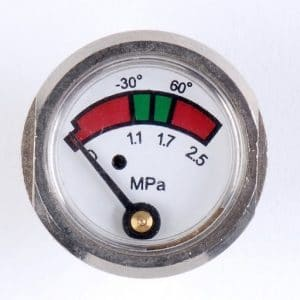 Manómetro extintor