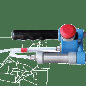 Pinza / pistola para presurizar extintores